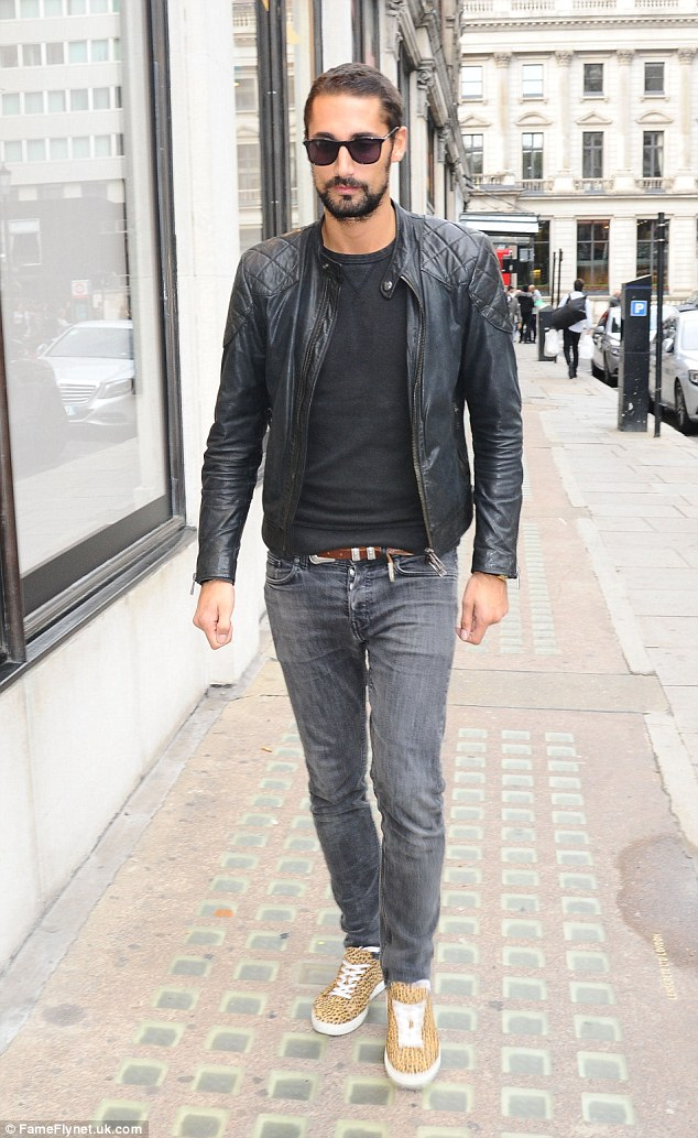 Stepping out solo: It was back to work for Hugo Taylor as the reality star turned sunglasses designer ventured out in London on Saturday