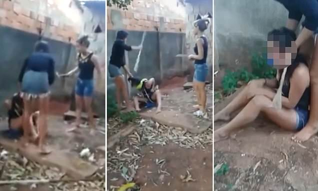 Four teenage schoolgirls 'dug a shallow grave for 14-year-old love rival' during brutal