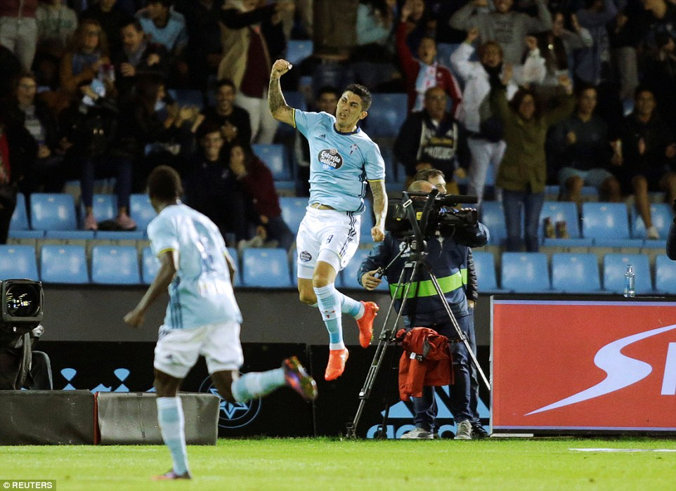 Pablo Hernandez scored Celta Vigo's fourth goal of the game to give the hosts a two-goal lead again