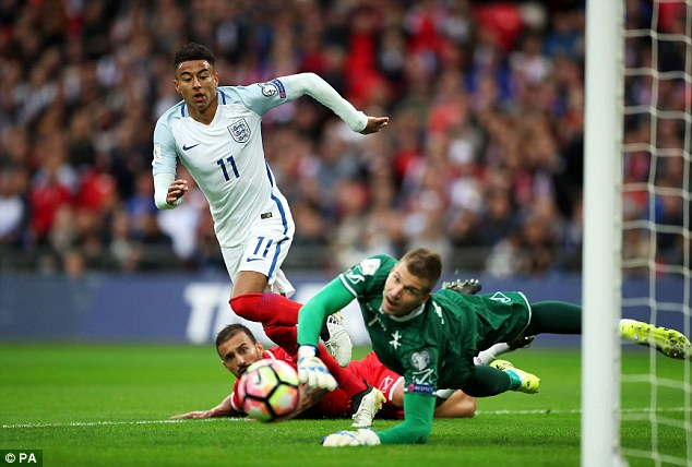 Lingard made his debut for England in their World Cup qualifying clash against Malta