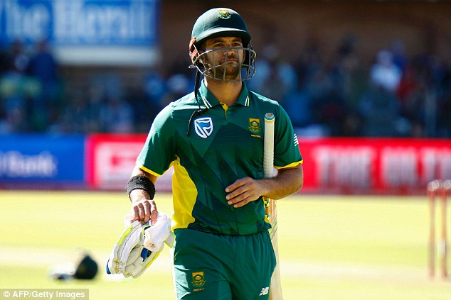 South Africa were two wickets down for 29 runs before Du Plessis and JP Duminy took control