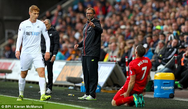 Klopp has not accepted his players lying down with gruelling triple training sessions