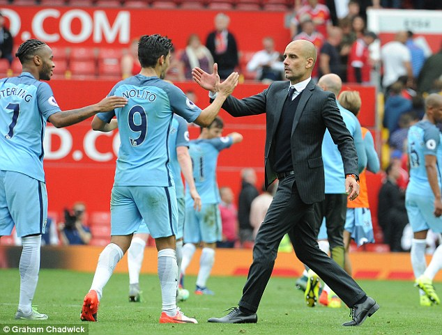 Pep Guardiola's side ran 119.6km in the Manchester derby - the second furthest this season