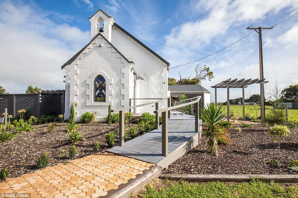 Australia's most unique holiday home for 2016 is The Arches of Allendale, a converted church nestled into the hillside in Port MacDonnell, South Australia