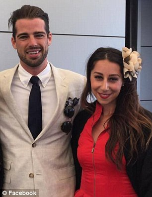 Fan favourite:The 27-year-old electrician and model happily took photos with a legion of female fans while enjoying the Moet & Chandon Spring Champion Stakes Day at Royal Randwick Racecourse