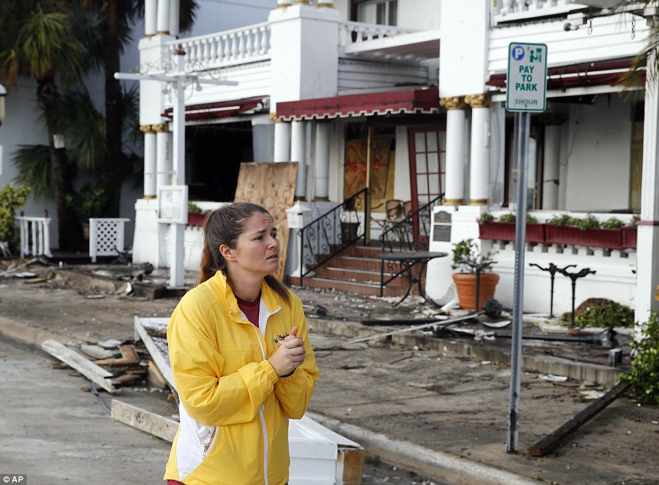 More than 20 people were stranded at the Casablanco Inn (pictured) on Friday during the worst of the storm
