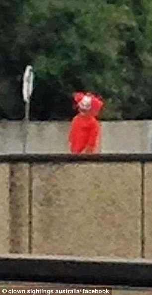 This red-headed character was seen on a Melbourne bridge