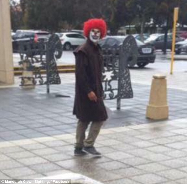 In Mandura, Western Australia, clowns have reportedly been horrifying people near supermarkets