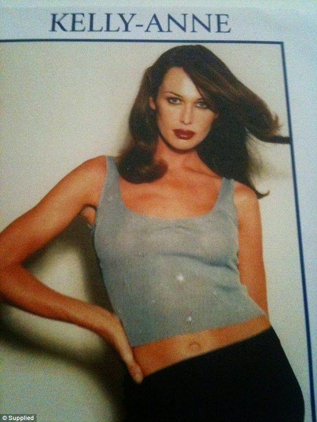 Stunning: A promotional shot of Kelly (then known as Kelly-Anne) from the early 1990s