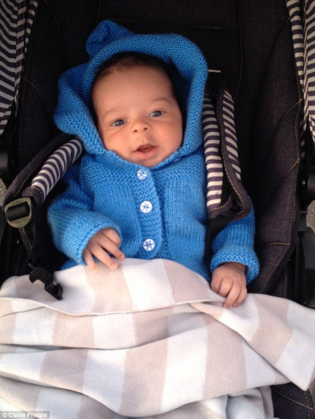 Claire told how Thomas was so well-behaved, she was walking him around the park just two days after giving birth. But just a few weeks later she found him unresponsive in the night