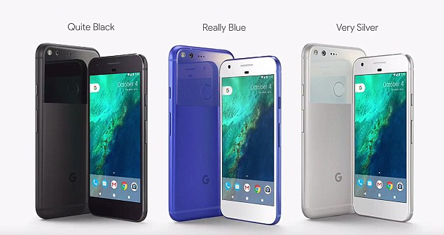 Brian Rakowski of Google said the phone was 'designed inside and out to be smart' and will be avialble in three colours.