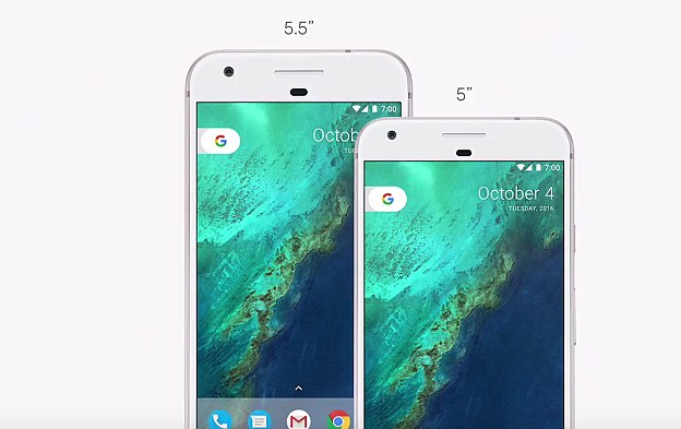 The new handset range includes two new phones, a Pixel and the 5.5-inch Pixel XL.