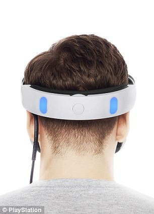 The headset is easy to slip on and off