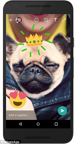 Users can now add emoji, and draw and write on their photos on WhatsApp