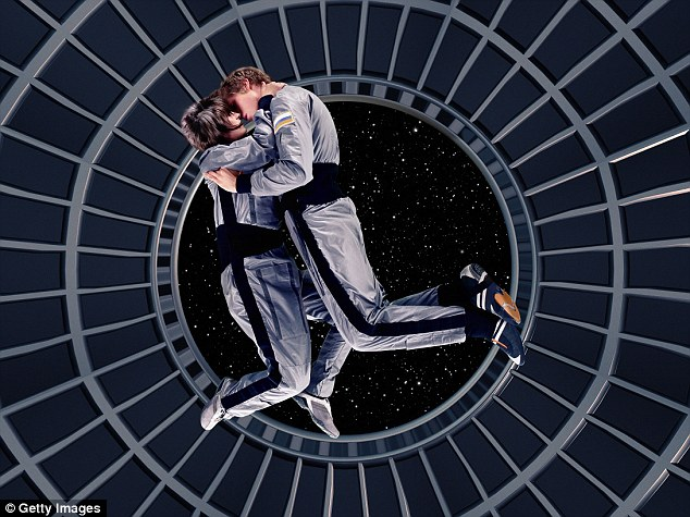 There are yet to be any recorded instances of astronauts doing the deed in space, and it seems that the lack of gravity may be the main factor stopping them (stock image)