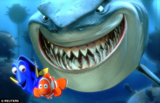 The research suggests that Disney's depiction of a fish that gets separated from his family in Finding Nemo (pictured) may not have been completely inaccurate as fish do get stressed when alone. Clown fish like Nemo, however, tend to live in pairs rather than large shoals