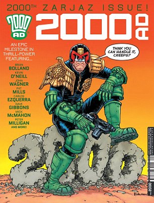 Cover: 2,000th edition of 2000AD