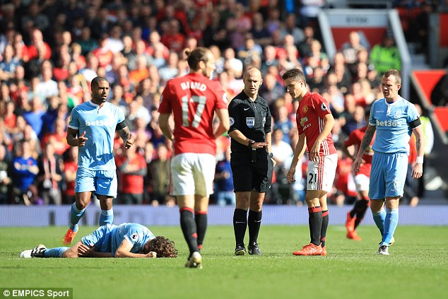 Referee Bobby Madley chose only to give the Spanish midfielder a yellow card