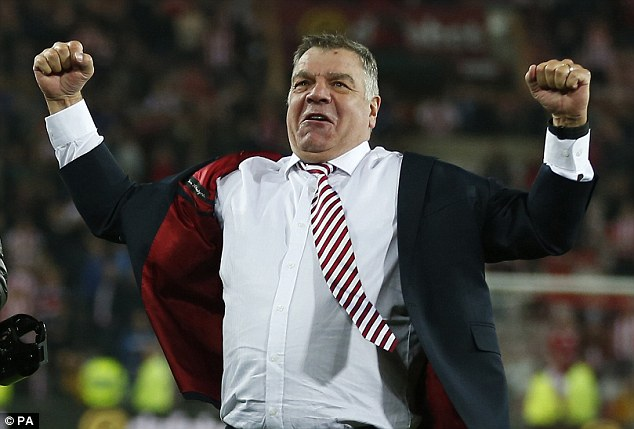 Allardyce has a win ratio of just 34 per cent from his 467 matches as a top-division manager