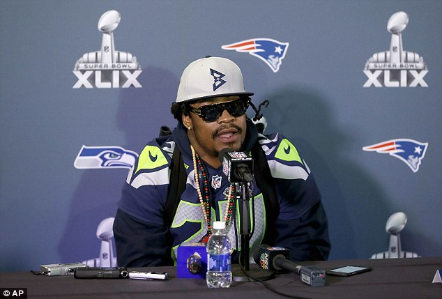 Marshawn Lynch has been at the centre of attention this week for what he hasn't said to the media