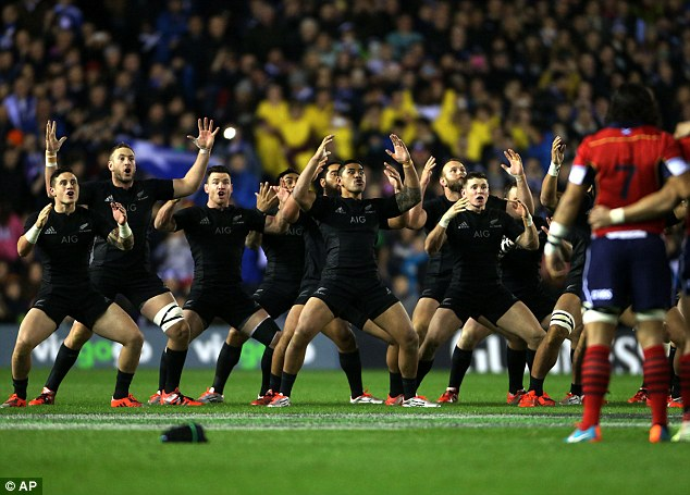 North is a massive fan of New Zealand's war dance the haka, performed here against Scotland