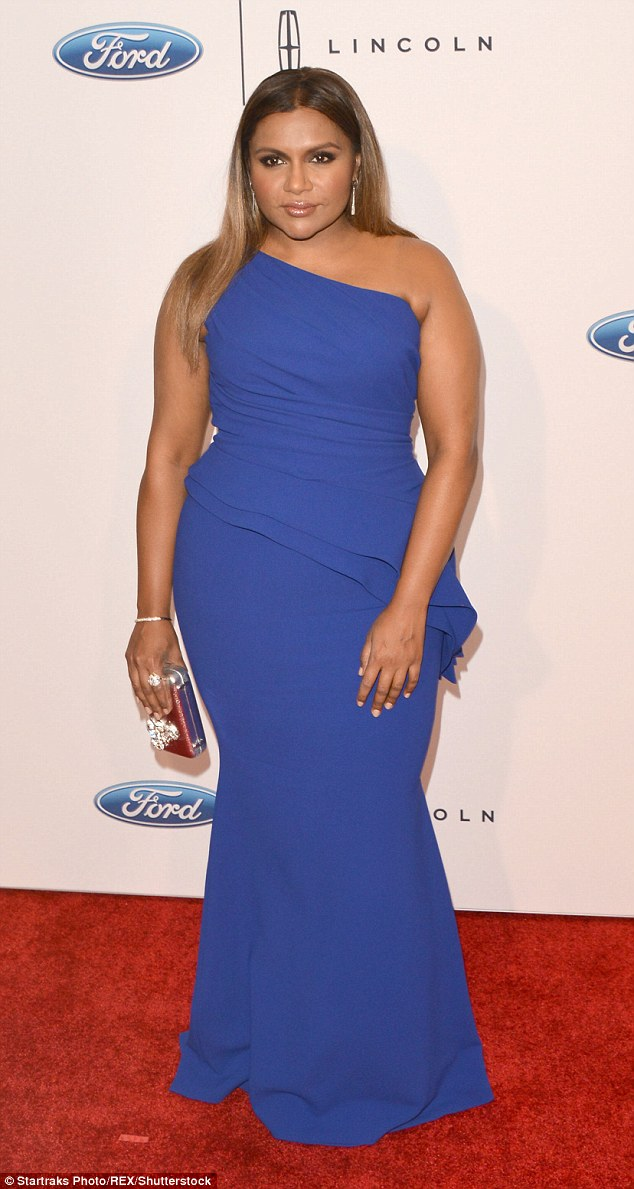 Red carpet regular: Mindy, seen here at the Gracie Awards in May, has blossomed into a major star over the past decade