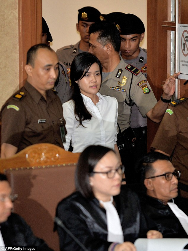 Her alleged crime was described by prosecutors in the Central Jakarta District Court on Wednesday as 'cruel' and 'sadistic'