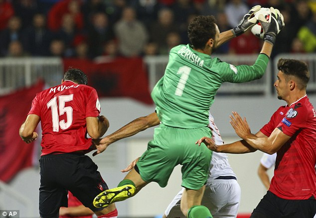 Albania keeperEtrit Berisha made a string of important saves to deny Spain in the first half