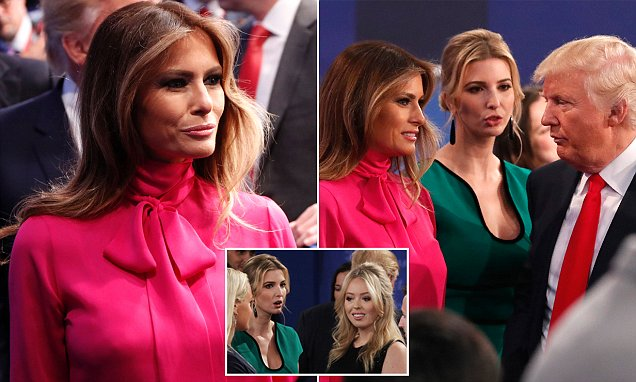 Donald Trump's wife Melania dons a Gucci 'pussy-bow' blouse for presidential debate night