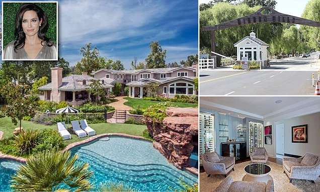 Angelina Jolie moves into Hidden Hills, where she'll count Kim Kardashian as a neighbor