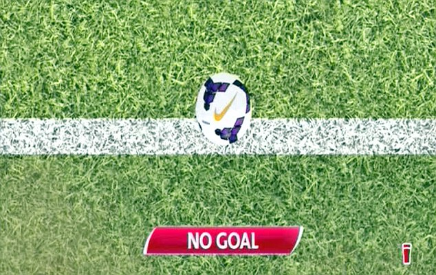 Technology in action: The newly introduced goal line system has been used in the Premier League this season