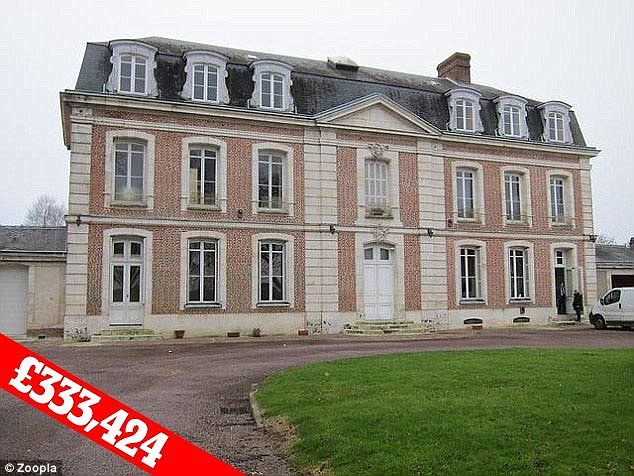 The 19th century chateau is in the north of France with great transport links to Britain via the A28 motorway