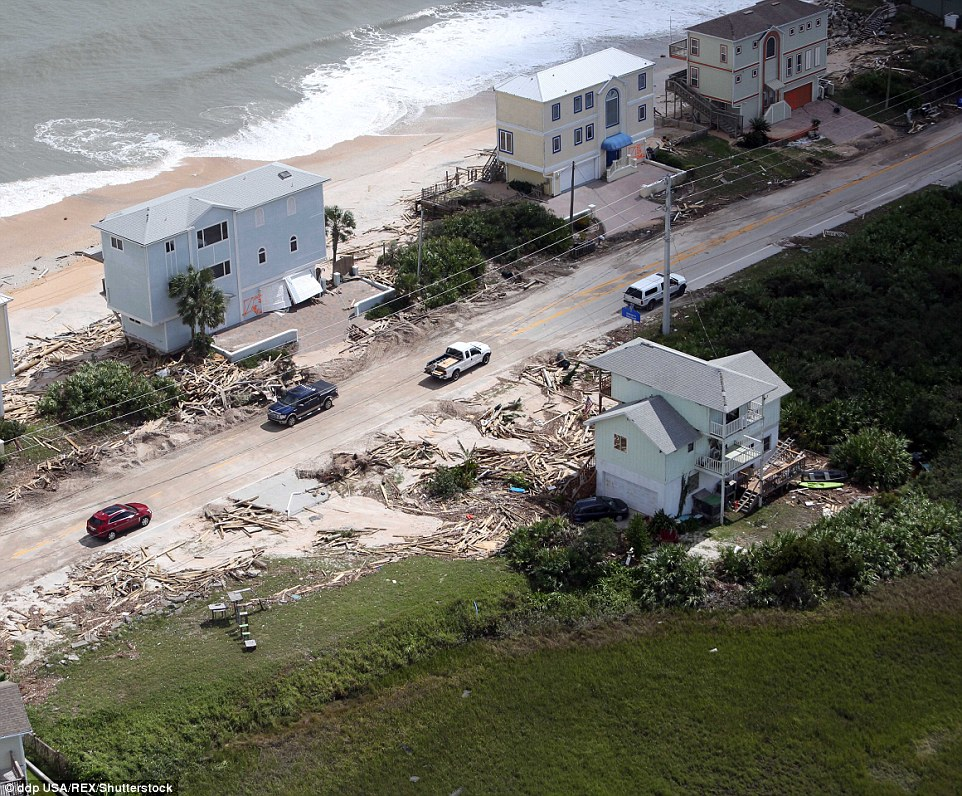 Property data firm CoreLogic projects that the total damage will cost between $4billion and $6billion in insured losses, anticipating 90 percent of insurance claims will be attributed to storm surges and wind damage from the storm