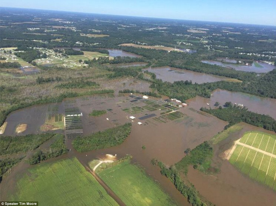 North Carolina congressman Tim Moore likewise surveyed the extent of the flooding to his state