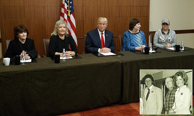 Donald Trump unveils FOUR Clinton 'sex victims' before the presidential debate