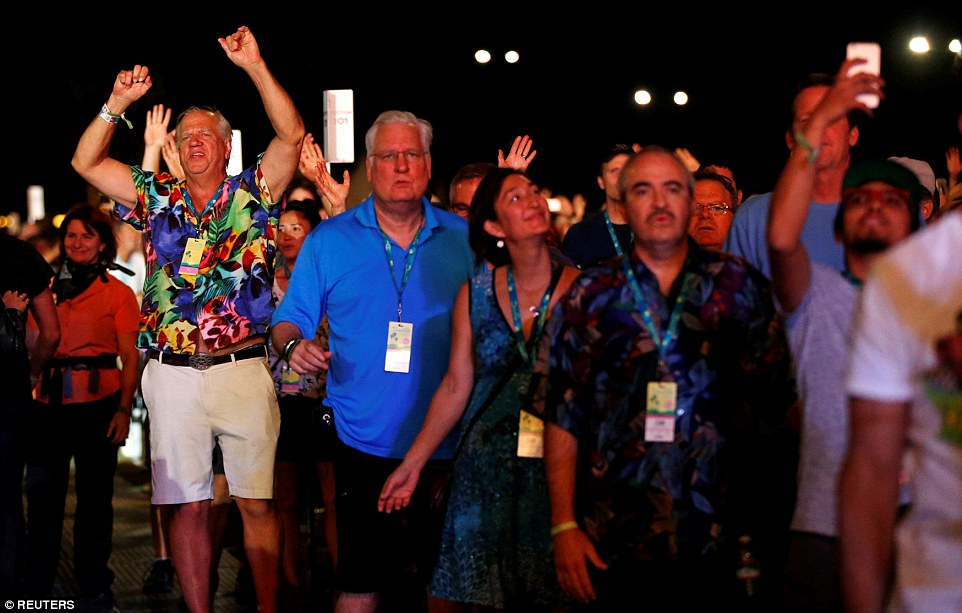 Going for it: Fans of all ages danced the night away as the 74-year-old Beatles star turned back time with his classics