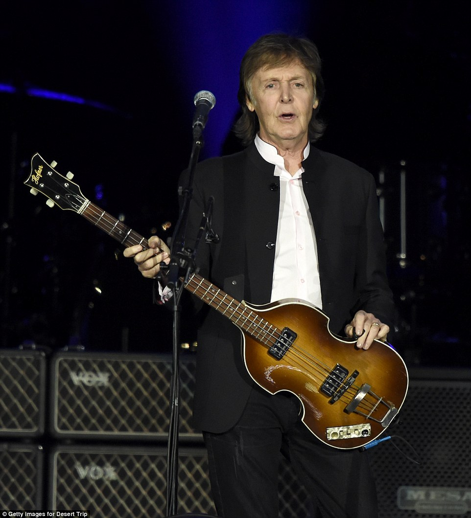 Musical night:He appeared on stage - fashionably late by about 30 minutes - and broke into the Beatles song A Hard Day's Night