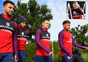 England prepare for Slovenia clash as captain Wayne Rooney faces anxious wait to see if he