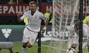 Macedonia 2-3 Italy: Ciro Immobile scores twice late on as Azzurri come from behind to win