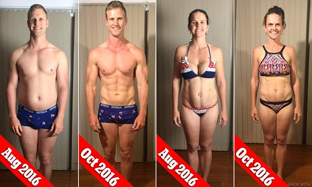 Fitspo couple Sharny and Julius Kieser lose a combined 30 kilos in just EIGHT weeks