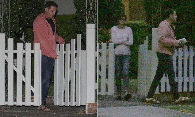 Karl Stefanovic looks downcast as he visits wife Cassandra Thorburn at former marital home