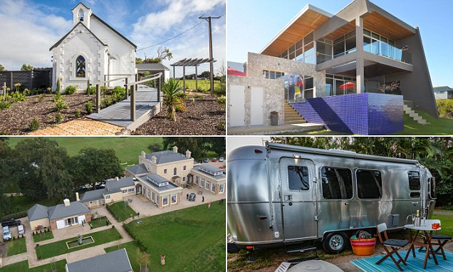 Australia's most unique Stayz holiday houses revealed including converted church in Port