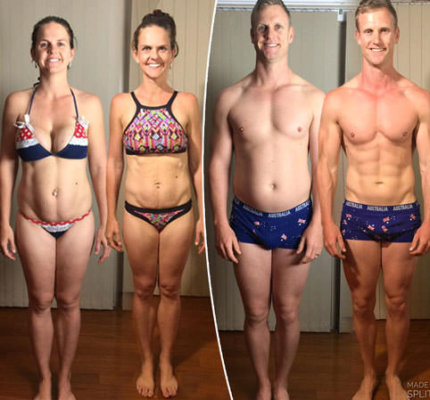 Fitspo couple lose a combined 30 kilos in just EIGHT weeks