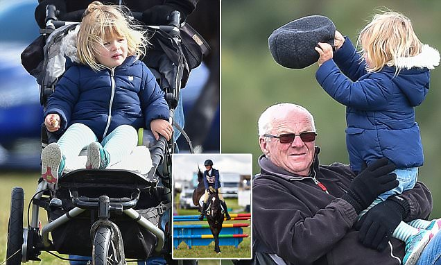 Zara Tindall's adorable daughter Mia runs wild while her mother competes in Calmsden Horse