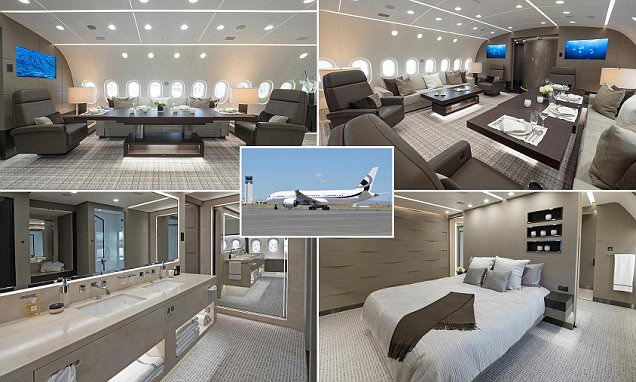 Inside the Dreamliner that's been converted into a private jet with bedrooms, walk-in