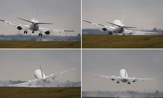 Plane aborts landing in Prague and narrowly avoids crashing as wheels graze the runway