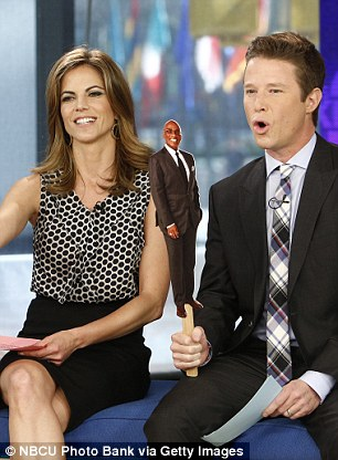 Today executive Noah Oppenheim announced Bush's (pictured with Natalie Morales) ban in an email to the show's team on Sunday night