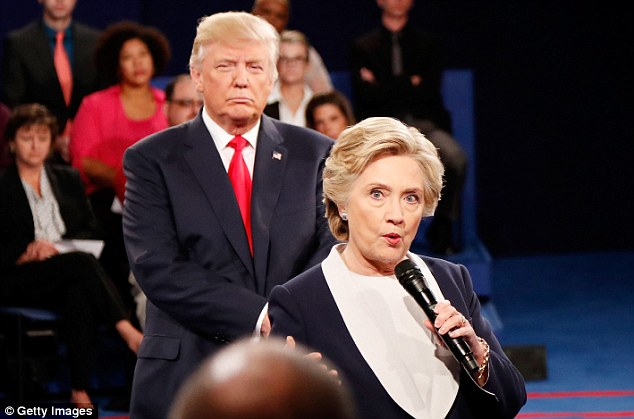 Democratic presidential nominee Hillary Clinton and Republican presidential nominee Donald Trump went head-to-head at Washington University,  in St Louis, Missouri, on Sunday