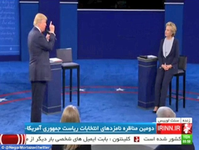 Iranian state TV live-streamed the US presidential debate for the first time ever on Sunday, prompting some to joke it was the best possible 'anti-America propaganda'