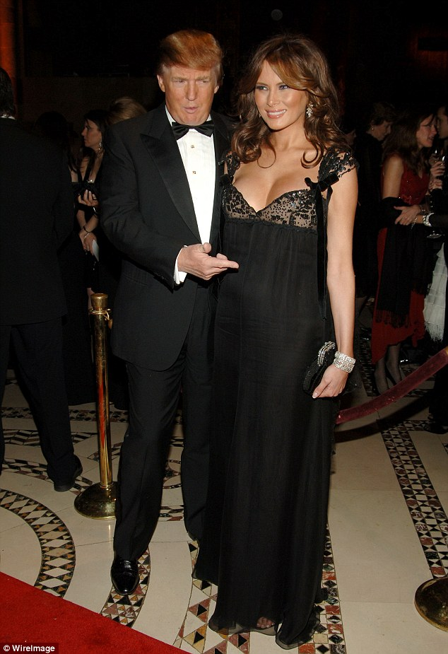 Melania (pictured next to Trump during her pregnancy) called her husband's comments about women, recorded in September 2005, 'unacceptable'